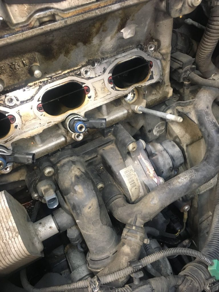 audi a5 water pump leaking